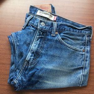 Levi's 505 Straight Leg Classic Dark Blue Jeans
